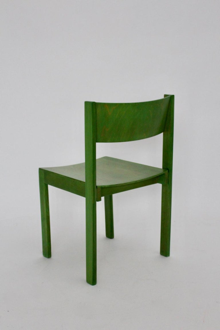 Green Carl Auböck Dining Room Chairs, Vienna, 1956, Set of Eight For Sale 15