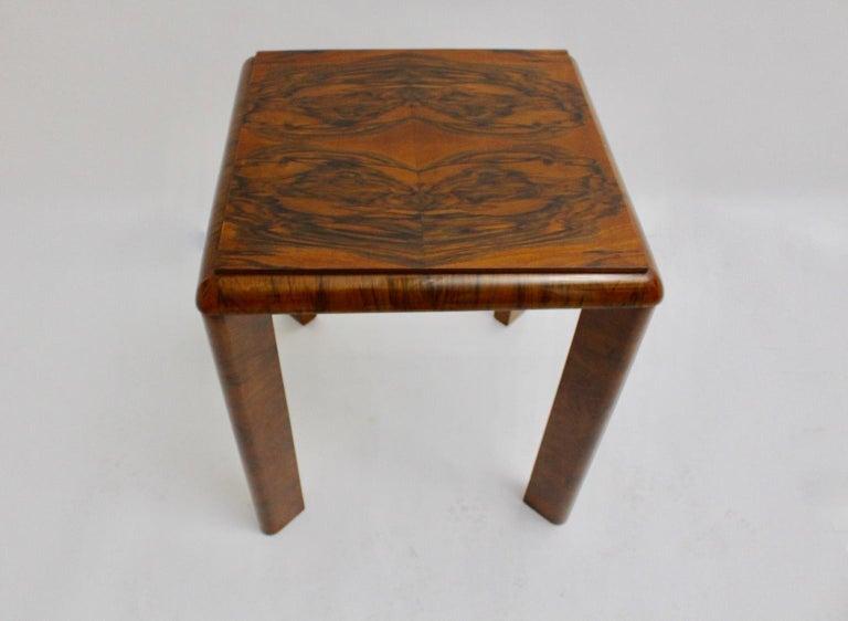 Walnut Art Deco Side Table, Austria, circa 1930 For Sale