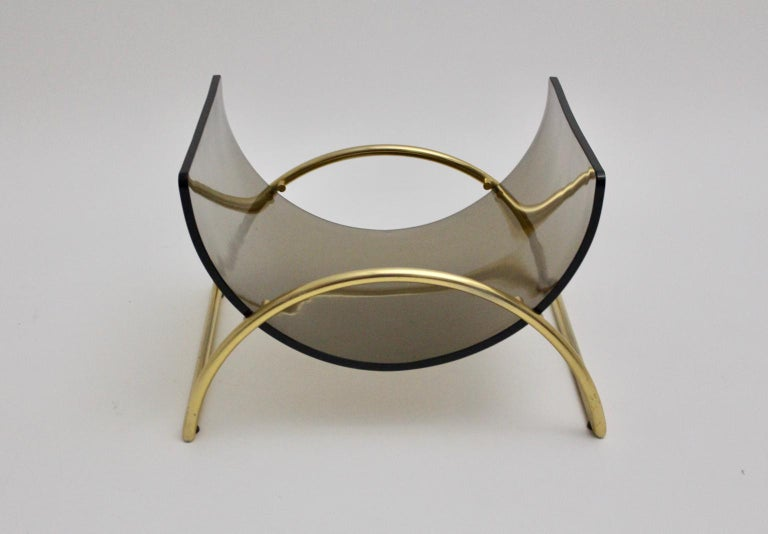 Mid-Century Modern Magazine Rack Lira L1 by Gallotti & Radice 1970s, Italy In Good Condition For Sale In Vienna, AT
