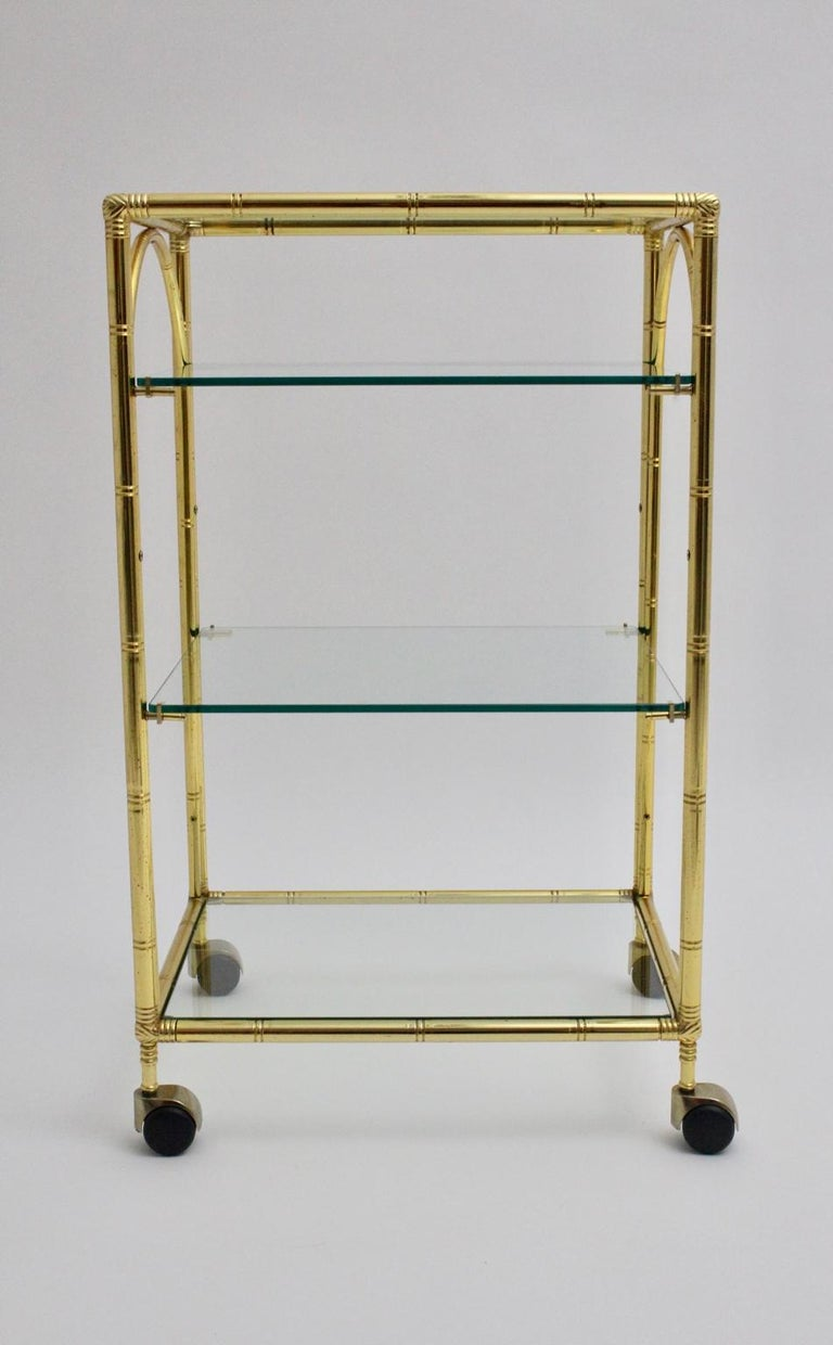 Mid-Century Modern Faux Bamboo Bar Cart by Maison Baguès Attributed, 1960s For Sale 5