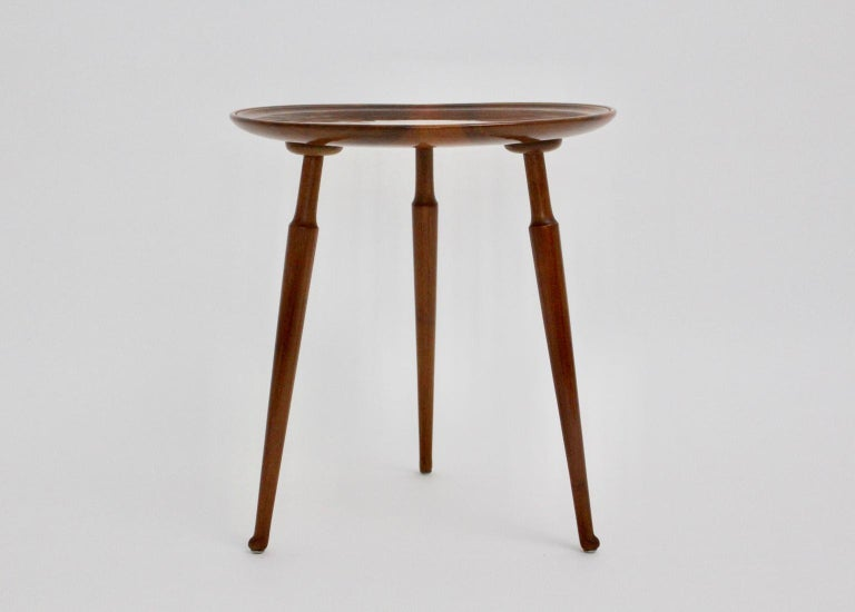 This delightful coffee table was designed by Josef Frank for Haus & Garten, circa 1925. The coffee table was made of solid walnut and was newly shellac hand-polished. Please note the very beautiful grain on the tabletop. The piece is in best