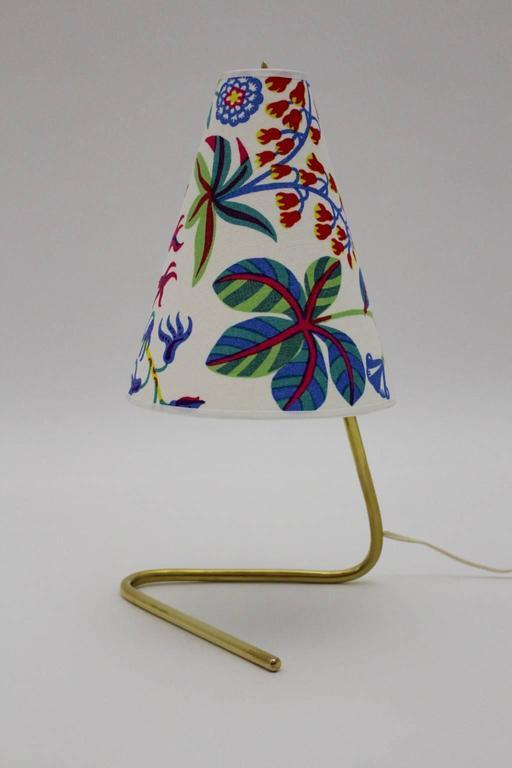 Mid-Century Modern Mid Century Modern Vintage Brass Table Lamp by Rupert Nikoll  1950s For Sale