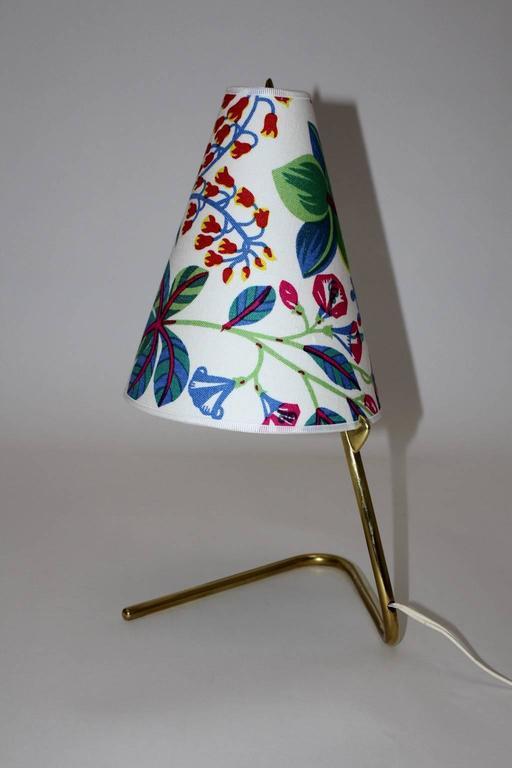 Austrian Mid Century Modern Vintage Brass Table Lamp by Rupert Nikoll  1950s For Sale