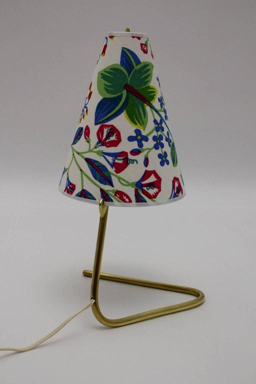 Mid Century Modern Vintage Brass Table Lamp by Rupert Nikoll  1950s In Good Condition For Sale In Vienna, AT