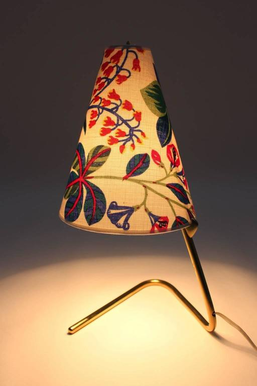 Mid Century Modern Vintage Brass Table Lamp by Rupert Nikoll  1950s For Sale 1