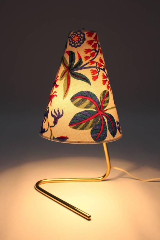 Mid Century Modern Vintage Brass Table Lamp by Rupert Nikoll  1950s For Sale 3