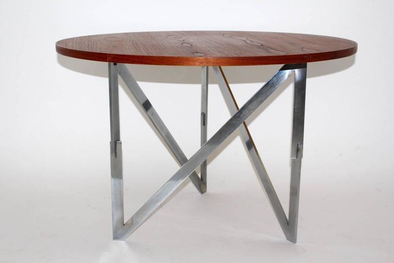 Scandinavian Modern Vintage Teak Coffee Table Aksel Bender Madsen Ejner Larsen For Sale 4