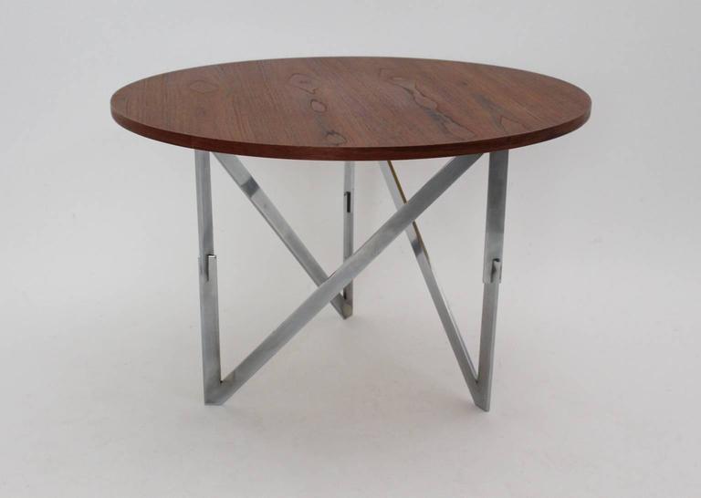 Scandinavian Modern Vintage Teak Coffee Table Aksel Bender Madsen Ejner Larsen In Good Condition For Sale In Vienna, AT