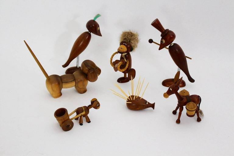 Mid-Century Modern Selection of Seven Animals, 1960s, Denmark For Sale 2