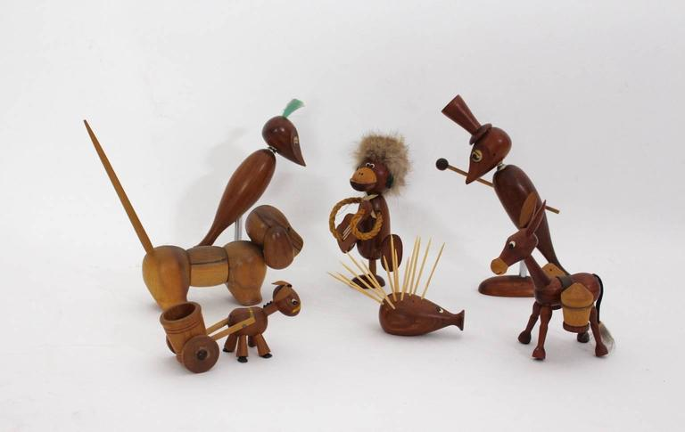 Mid-Century Modern Selection of Seven Animals, 1960s, Denmark In Good Condition For Sale In Vienna, AT