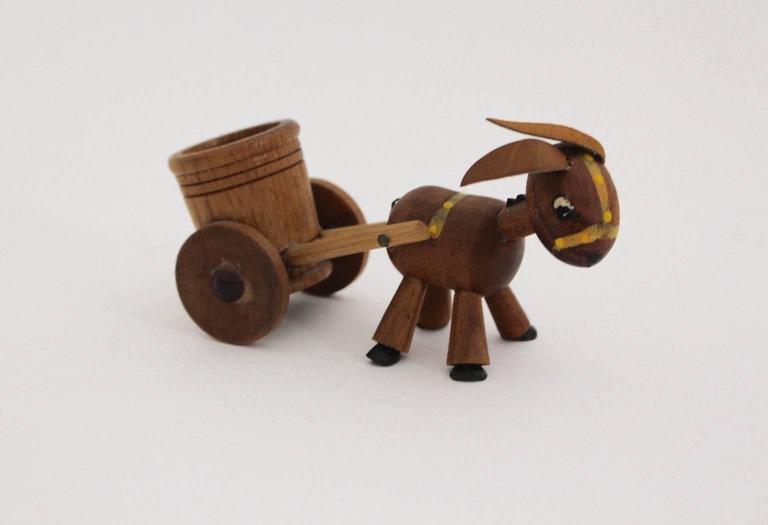 Scandinavian Modern  Teak Wood Vintage Selection of Seven Animals, 1960s Denmark For Sale 1