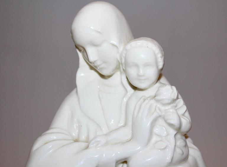 20th Century Wiener Werkstätte Pottery Madonna with her Child by Ida Schwetz-Lehmann, 1923 For Sale