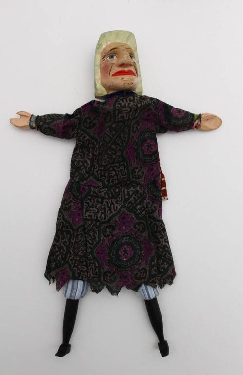 Early 20th Century Art Deco Vintage Glove Puppetry, circa 1920 For Sale