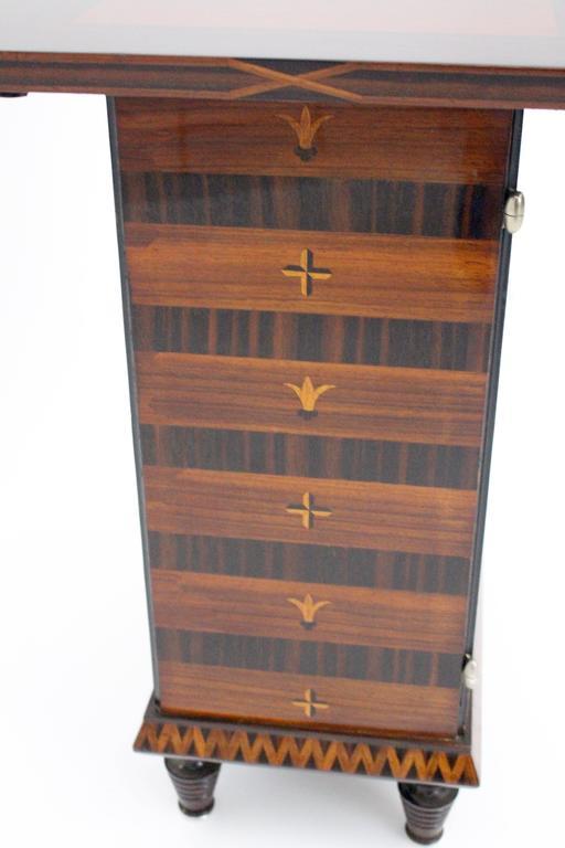 Art Deco Palisander Beech Vintage Side Table or Casket 1928 Austria  For Sale 3