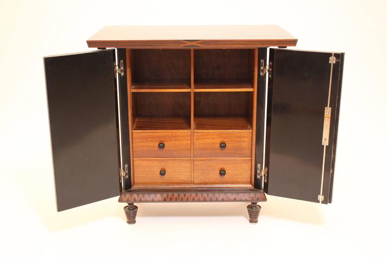 Art Deco Palisander Beech Vintage Side Table or Casket 1928 Austria  For Sale 4