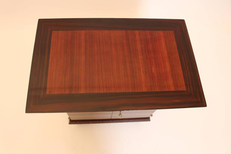 Art Deco Palisander Beech Vintage Side Table or Casket 1928 Austria  For Sale 1