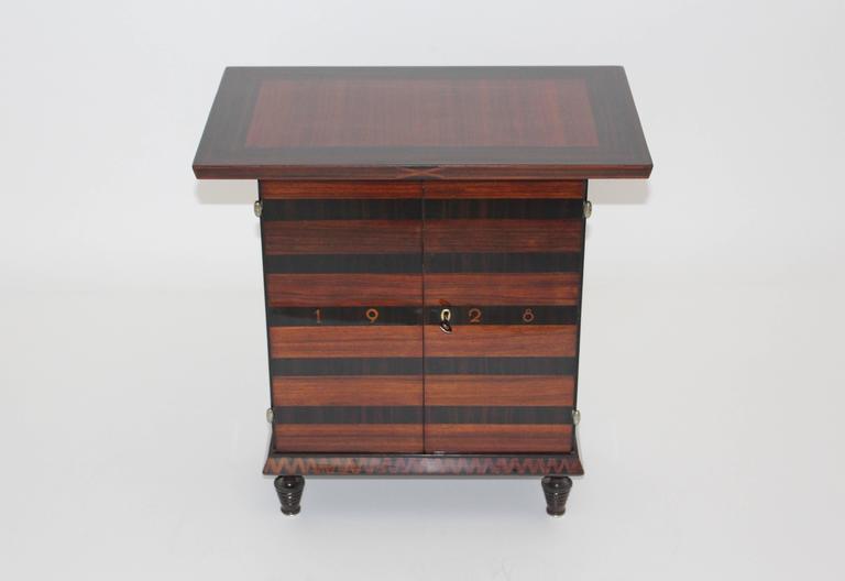 Art Deco Palisander Beech Vintage Side Table or Casket 1928 Austria  For Sale 2