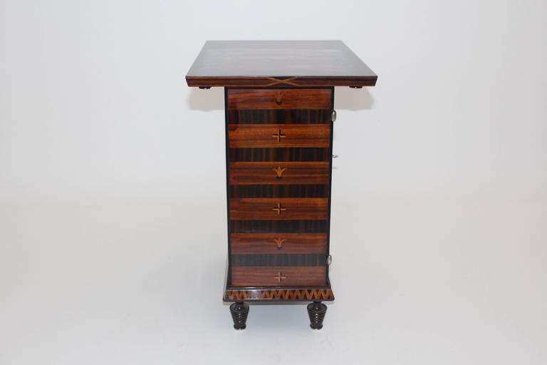 1920s  Art Deco Palisander Beech Vintage Side Table or Casket 1928 Austria  For Sale