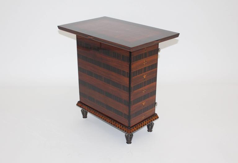 Austrian  Art Deco Palisander Beech Vintage Side Table or Casket 1928 Austria  For Sale