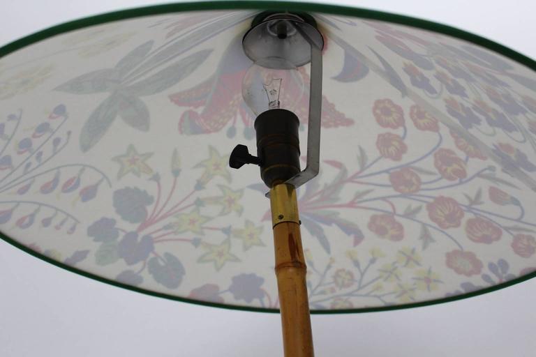 Austrian J T Kalmar Bamboo Floor Lamp With Josef Frank