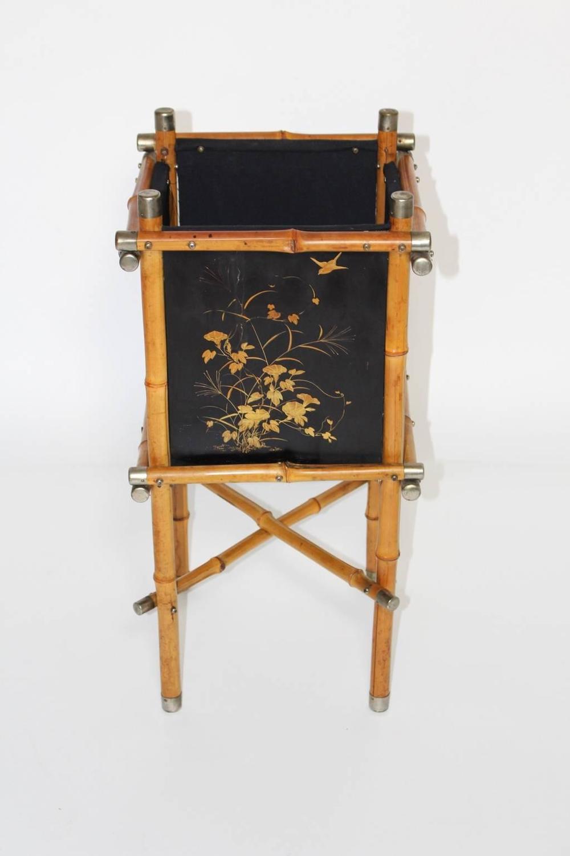 Art Deco Log Basket : Art deco bamboo paper basket s for sale at stdibs