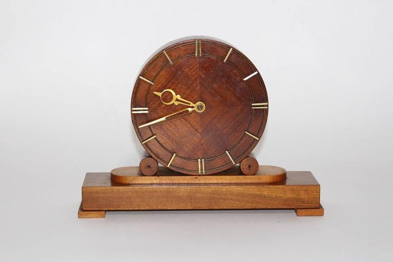 austrian mid century modern fireplace clock 1948 for sale at 1stdibs. Black Bedroom Furniture Sets. Home Design Ideas