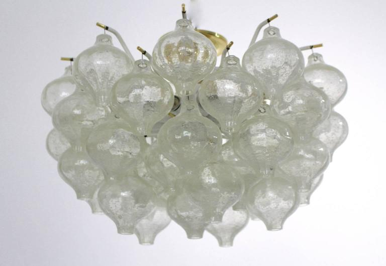 Austrian Mid-Century Modern Flush Mount Tulipan by J. T. Kalmar, Vienna, 1960 For Sale