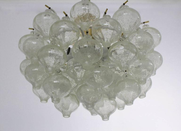 Mid-Century Modern Flush Mount Tulipan by J. T. Kalmar, Vienna, 1960 In Good Condition For Sale In Vienna, AT
