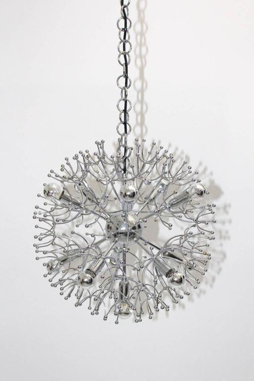 Sputnik Chandelier by Gaetano Sciolari, 1960s, Italy In Excellent Condition For Sale In Vienna, AT