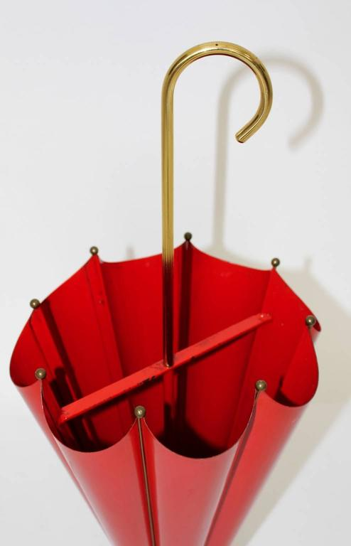 Red Umbrella Stand 1950s Italy At 1stdibs