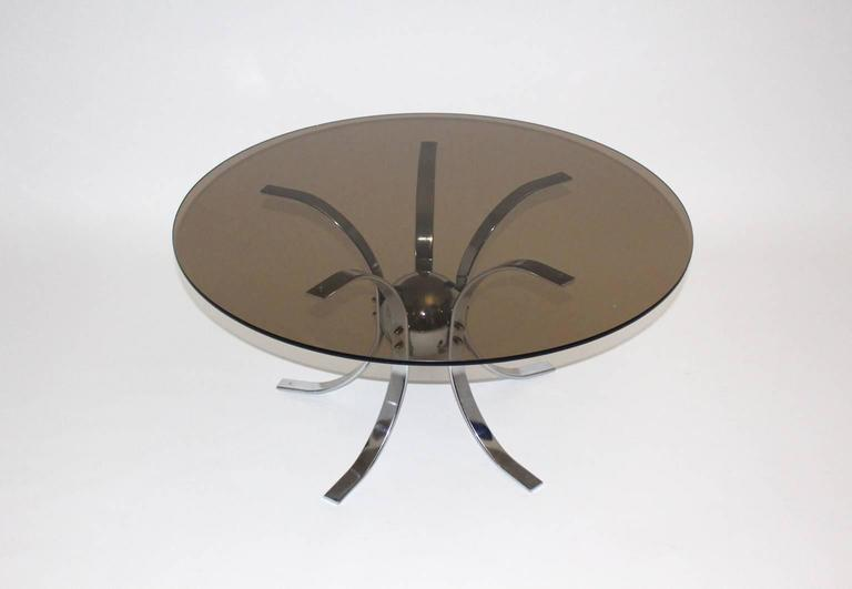 Mid-Century Modern Chromed Metal Sputnik Coffee Table, 1960s For Sale