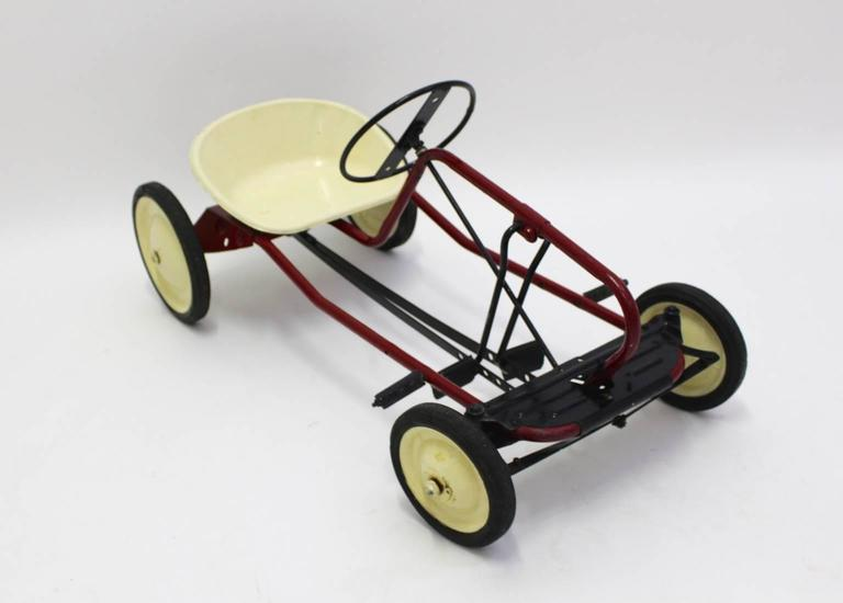 Mid-Century Modern Mid Century Modern Red Toy Pedal Car for Children 1950s For Sale