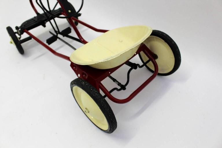 Mid-20th Century Mid Century Modern Red Toy Pedal Car for Children 1950s For Sale
