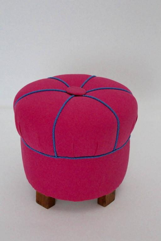 Pink Austrian Art Deco Stool 1930s For Sale At 1stdibs