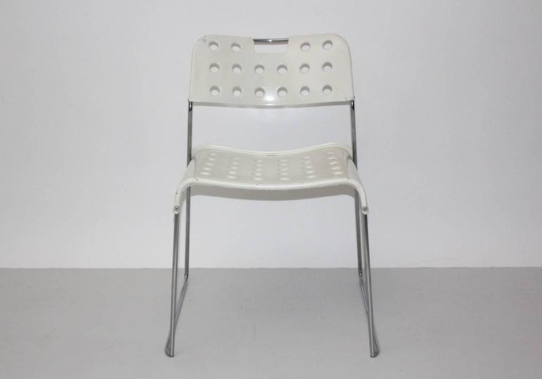 Mid-Century Modern Mid Century Modern Vintage White Omstak Chair by Rodney Kinsman, 1971 For Sale