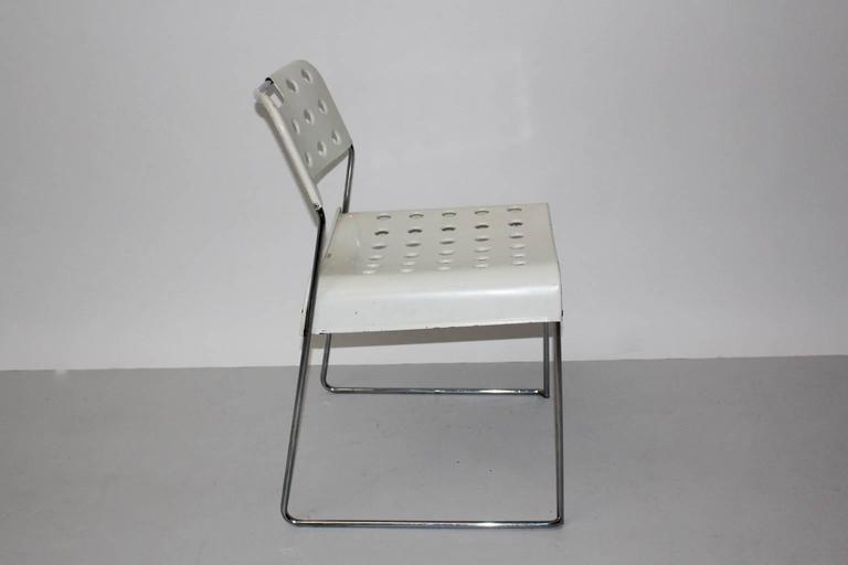 20th Century Mid Century Modern Vintage White Omstak Chair by Rodney Kinsman, 1971 For Sale