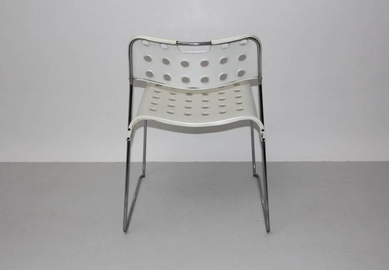 Mid Century Modern Vintage White Omstak Chair by Rodney Kinsman, 1971 For Sale 2