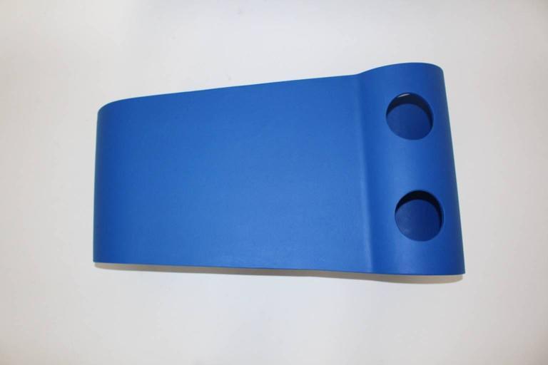 Cement Blue Eternit Modern Vintage Willy Guhl Loop Coffee Table, 1995, Switzerland For Sale