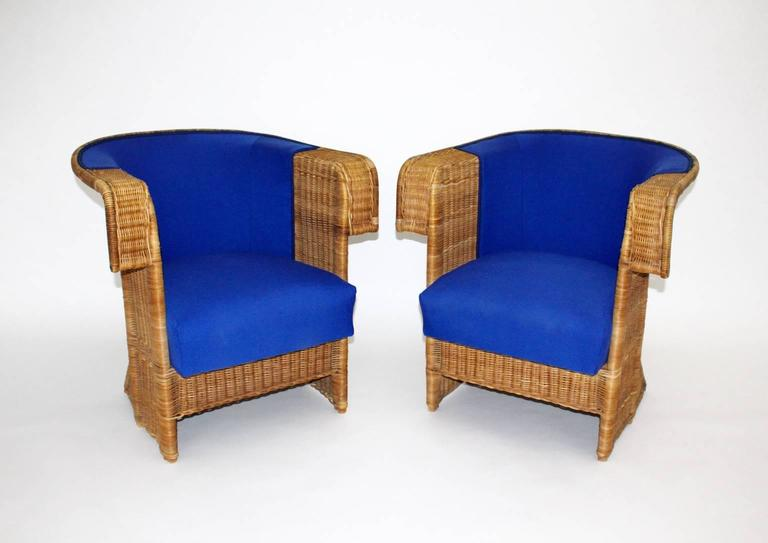 Pair of Wicker Chairs by Hans Vollmer, 1902-1903, Vienna 2