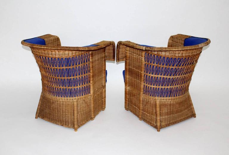 Pair of Wicker Chairs by Hans Vollmer, 1902-1903, Vienna 3