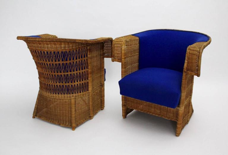 Pair of Wicker Chairs by Hans Vollmer, 1902-1903, Vienna 4
