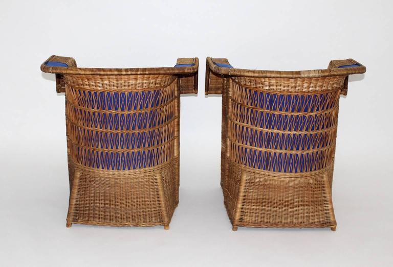 Pair of Wicker Chairs by Hans Vollmer, 1902-1903, Vienna 5