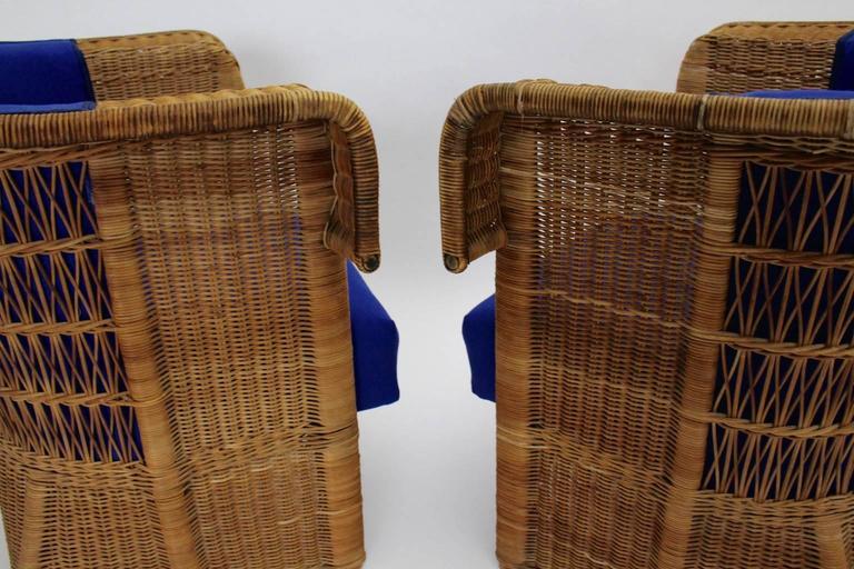 Pair of Wicker Chairs by Hans Vollmer, 1902-1903, Vienna 7