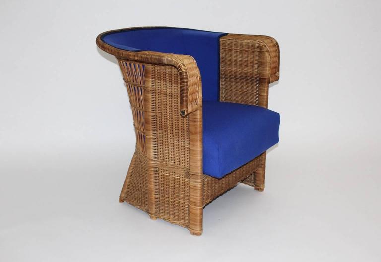 Pair of Wicker Chairs by Hans Vollmer, 1902-1903, Vienna 8