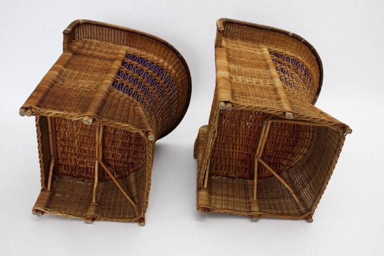 Pair of Wicker Chairs by Hans Vollmer, 1902-1903, Vienna 10