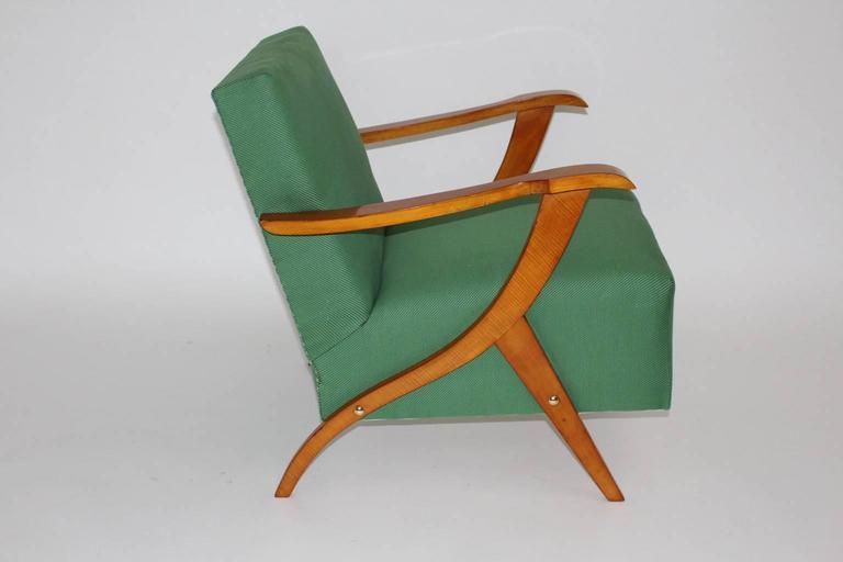 Zwei Grüne Italienische Lounge Stühle, 1950er Jahre 4
