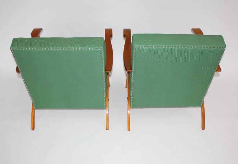 Zwei Grüne Italienische Lounge Stühle, 1950er Jahre 6