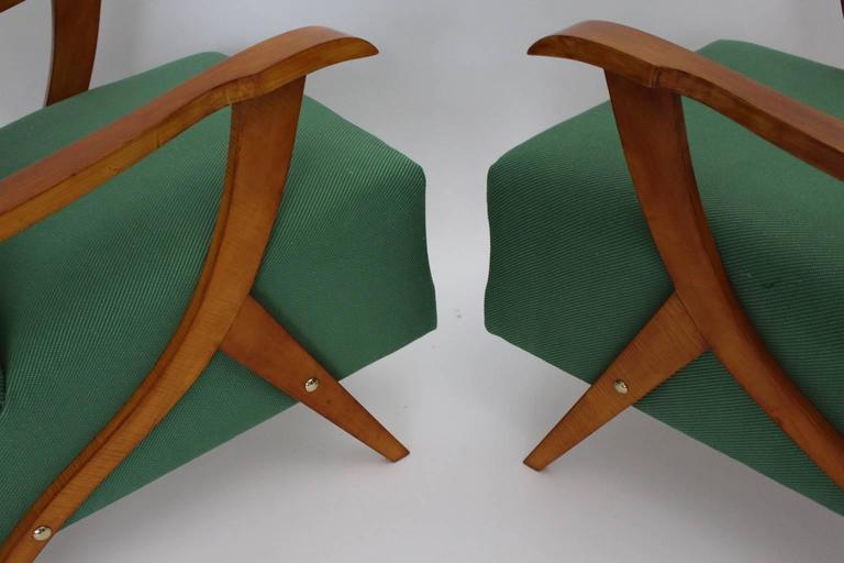 Zwei Grüne Italienische Lounge Stühle, 1950er Jahre 7