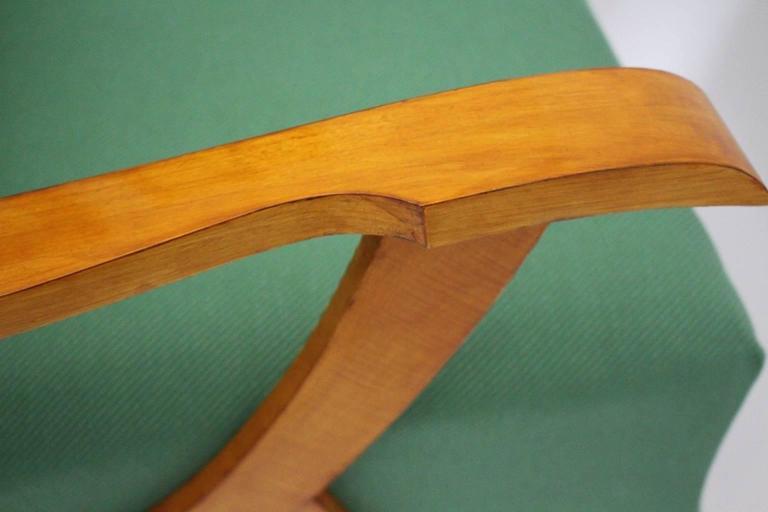 Zwei Grüne Italienische Lounge Stühle, 1950er Jahre 8