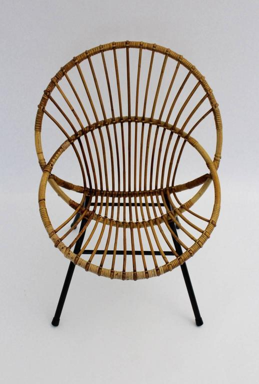 Rattan Chair By Rohe Noordwolde Netherlands 1960s For